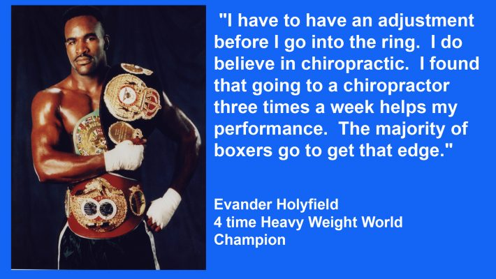 Another Boxing Champion Uses Chiropractic